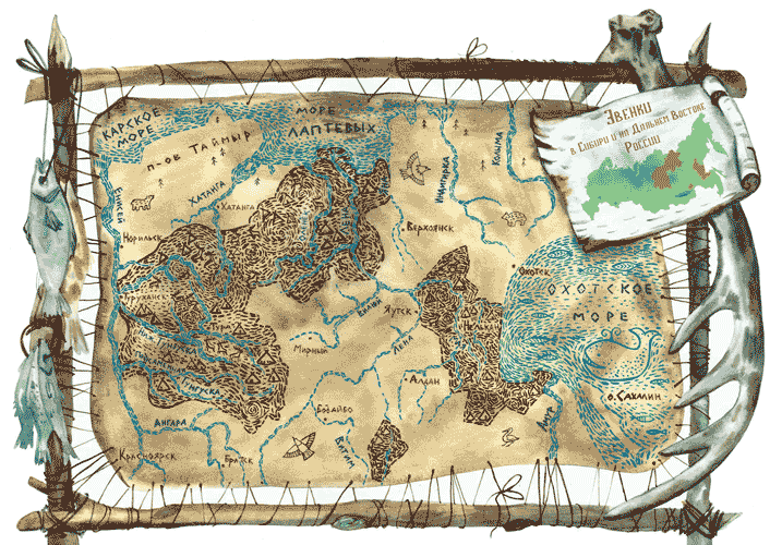 Карта берегов Охотского моря